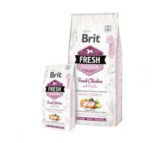 BRIT Fresh Puppy Heatlhy Grow kura a zemiak 12 kg