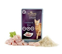 NUEVO CAT Sterilized kaps. Chicken with Rice 85 g